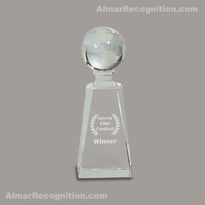 OC239 Presence Worldwide Globe Crystal