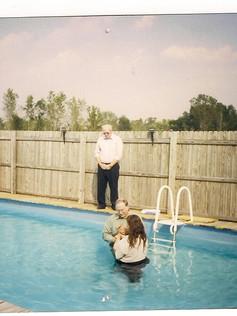 Bro. Medford Caudill Baptizes the late sister Faith in 1998