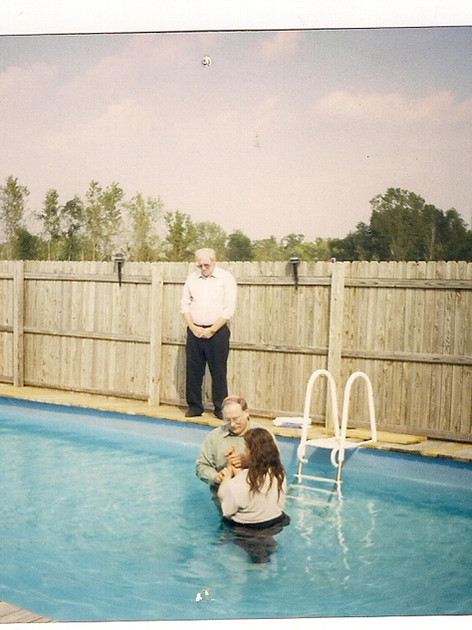 Bro. Medford Caudill Baptizes the late sister Faith in 1998