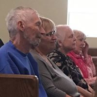 sister michelle's dad enjoying the hymn sing
