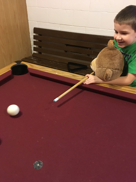 The boys love the pool table!