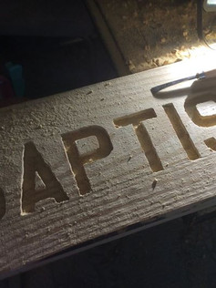 carving our sign