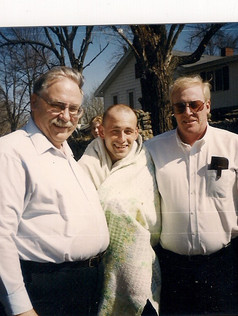 J.R. Baltes Baptism approx 1999 Bro. Medford and Bro. Mike