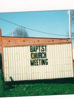 3-25-2000 ~Church's organizational meeting in the Culver Lions Club