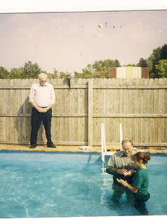 Bro. Medford baptizes Cassie Ross in 1998
