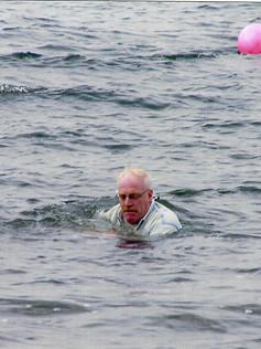 2006 Laura's baptism~she went under!