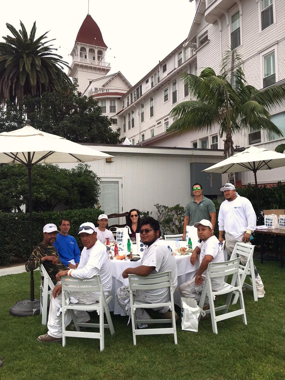 Hotel Del Coronado Lunch for Our Crew