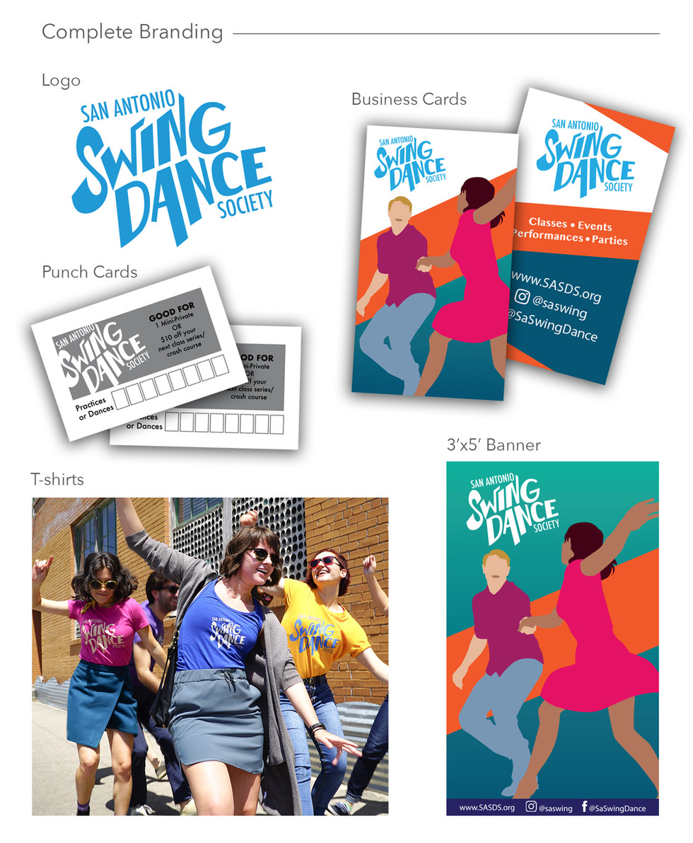 Complete Branding for San Antonio Swing Dance Society