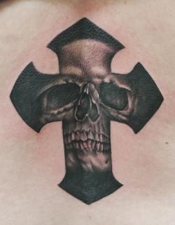 Skull in Cross