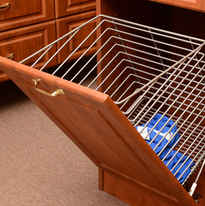 Tilt-Out Metal Hamper