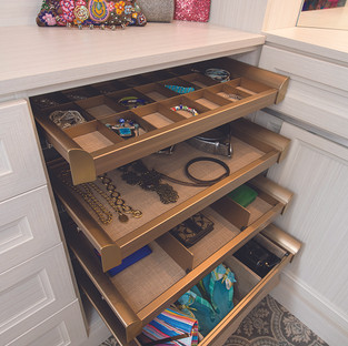 Champagne Gold-Trimmed Pull-Out Shelves