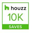 Houzz 10K Saves Badge