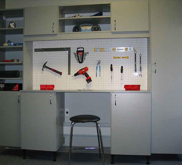 Peg Board for Tool Organization