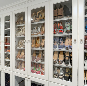 Shoe Cabinet with Glass Doors