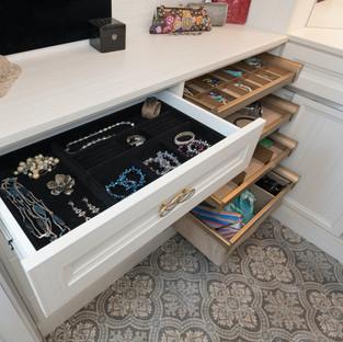 Black Velvet-Lined Compartment Drawer