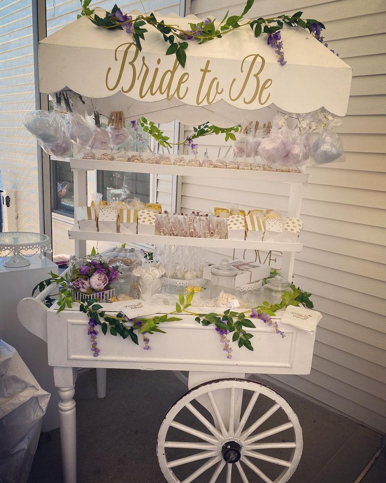 BRIDE TO BE CANDY CART