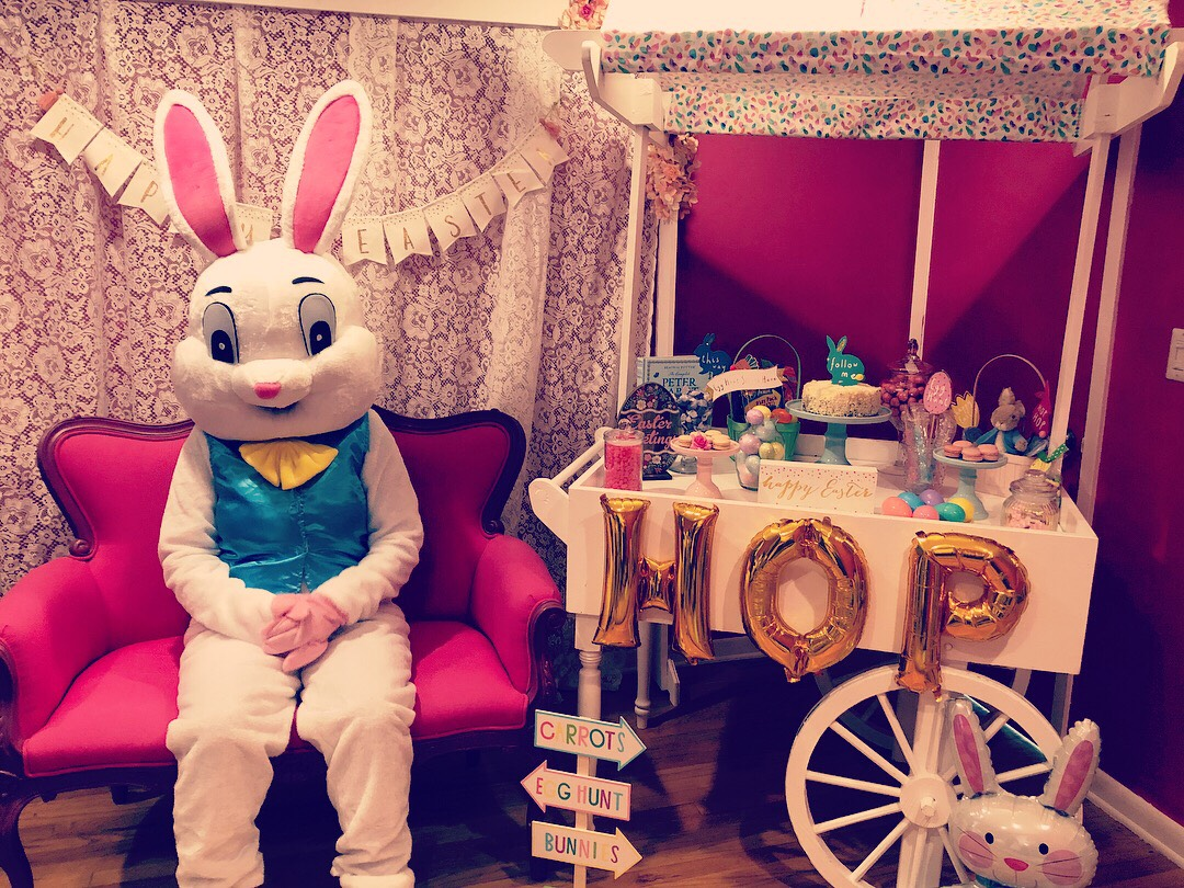 Easter Bunny & Easter Candy Cart