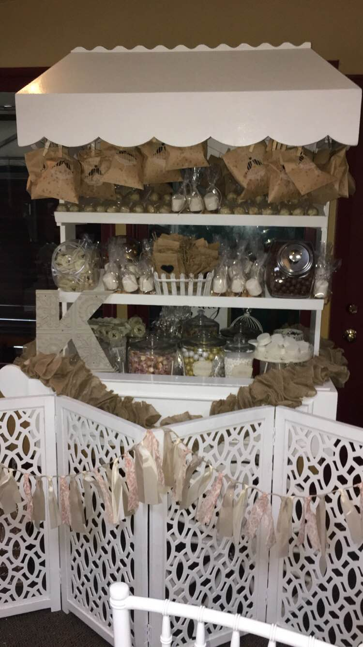 VINTAGE WEDDING CANDY CART