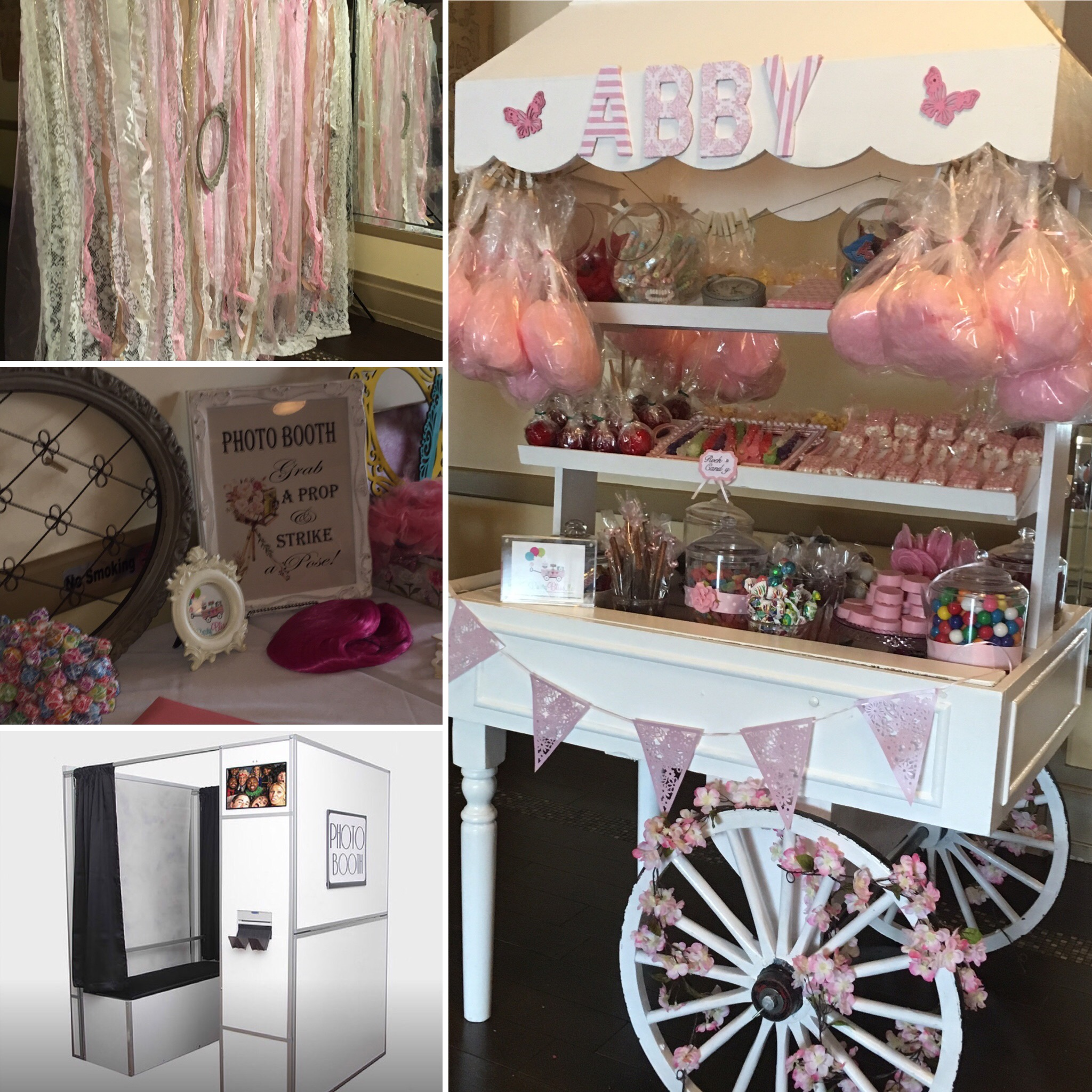 PHOTOT BOOTH AND CANDY CART RENTAL