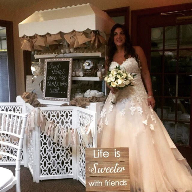BRIDE AND CANDY CART