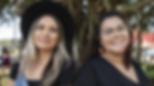 Bridget Cama, right, and Aliira Davis, l