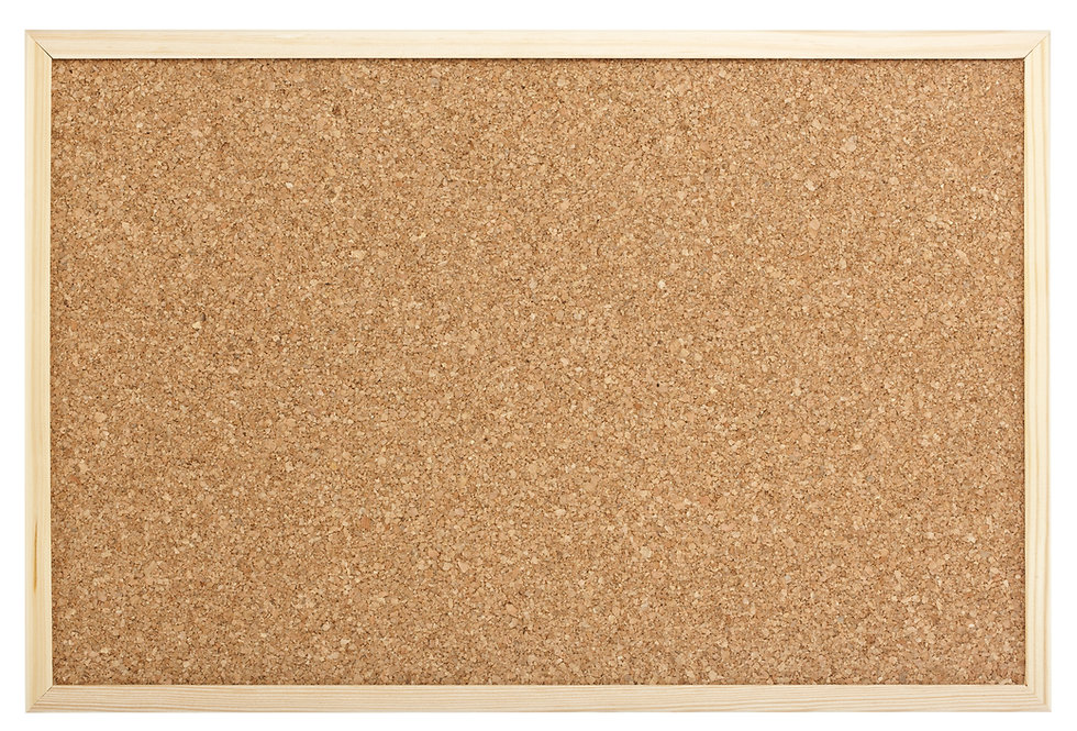blank cork message pin board isolated wi