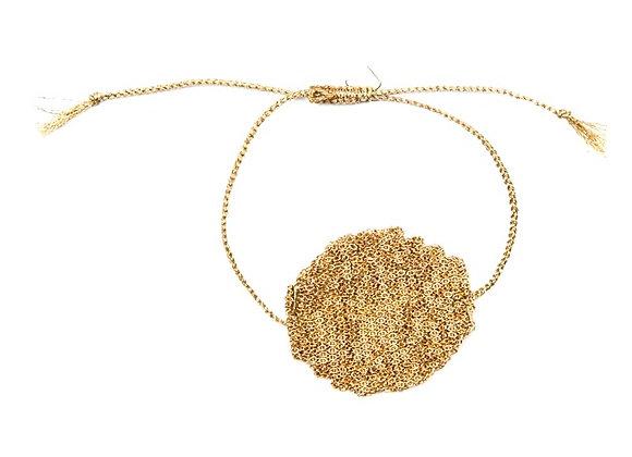 Medal bracelet Light gold