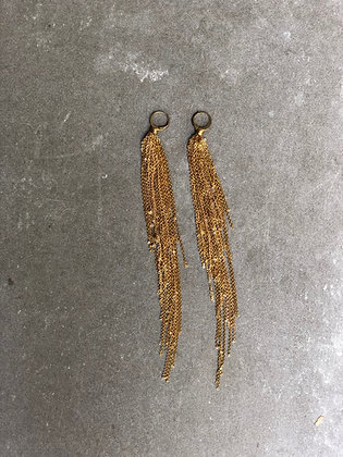 Fall gold earrings