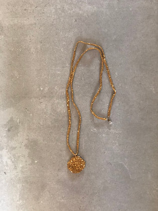 Medal necklace XL gold