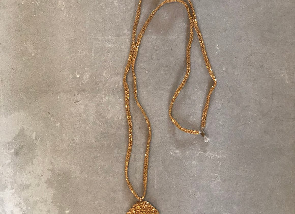 Medal necklace XL Indian gold