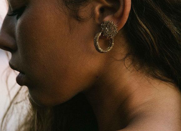 Medal boucles d'oreille Indian gold S