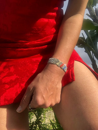 Pool bracelet M Silver