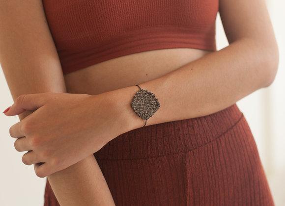 Medal bracelet Black