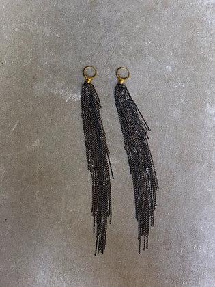 Fall boucles d'oreilles Noir