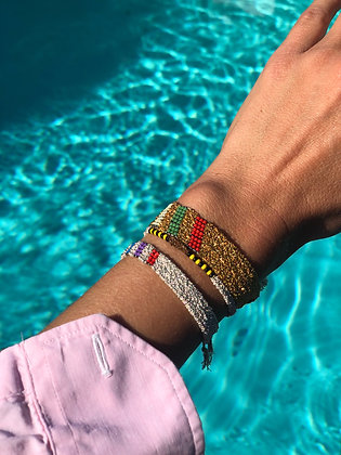Pool bracelet M Indian gold