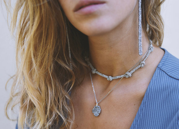 Medal necklace silver