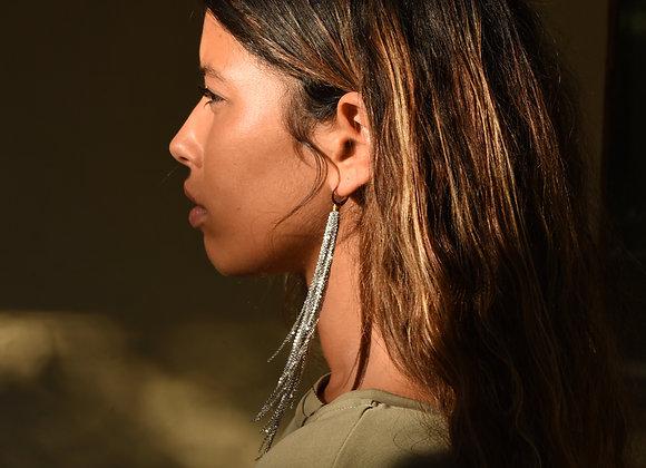 Fall silver earrings