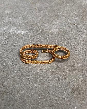 Uma triple ring Indian gold