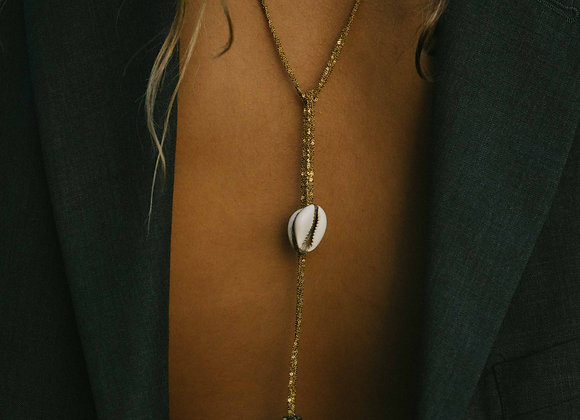 Cauri necklace wrap Indian gold