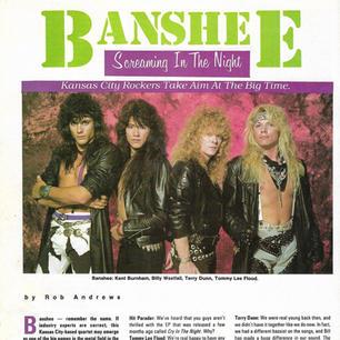 Banshee Hit Parader Fall 89