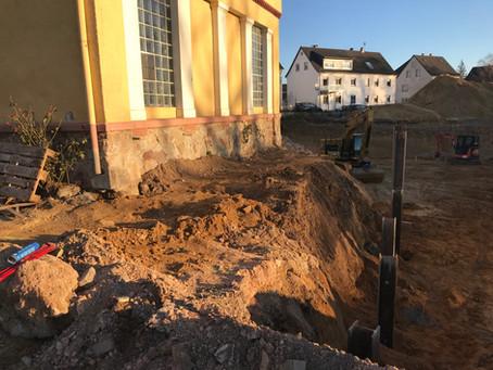 Baubeginn bei den Schlossterrassen Johannisberg