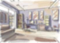 3d senior living furniture drawing