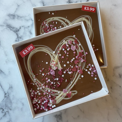 Valentine's Square Chocolate Bar