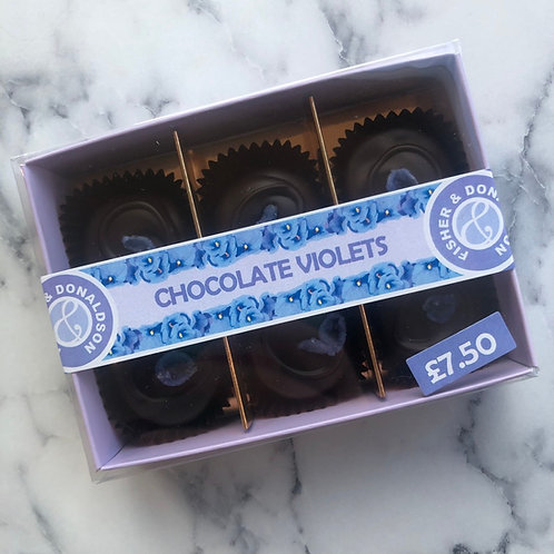 Box of 6 Chocolate Violets