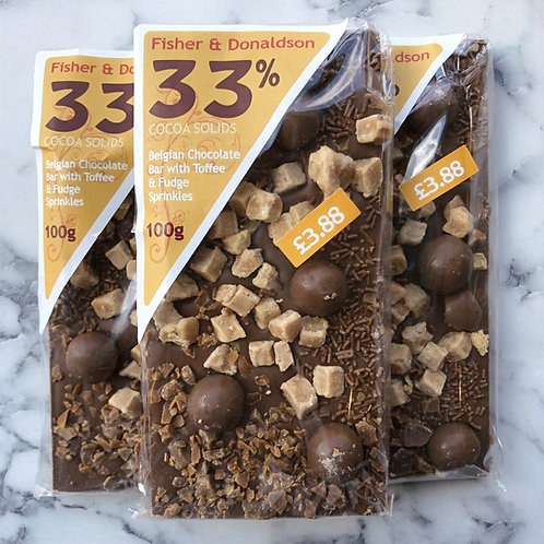 Belgian Chocolate Toffee Fudge Bar