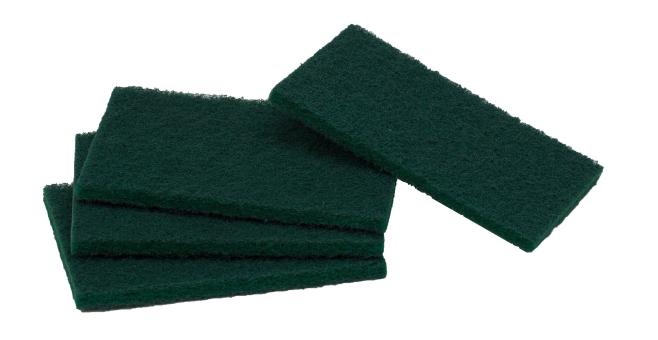Regular Heavy Duty Scour Pads - Green - 10 Pack