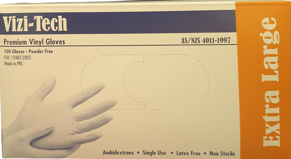 Vizi-Tech Premium Vinyl Gloves