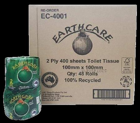 Toilet Paper - ABC Eathcare 2 Ply, 400 sheet