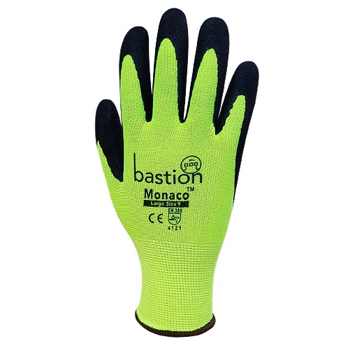Monaco, High Viz, Polyester Gloves - 12 Pack