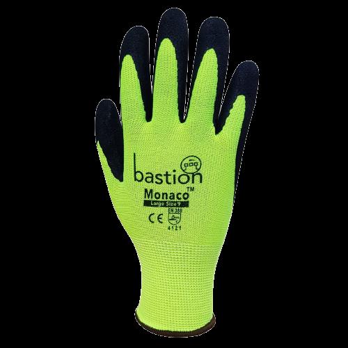 Monaco, High Viz, Polyester Gloves - 12 Pack